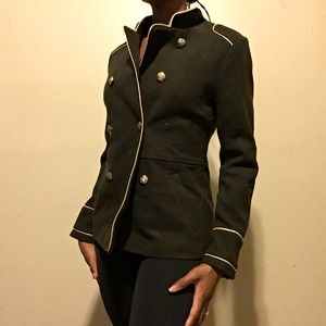 Guess Olive military green trench coat